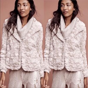 Anthropologie Tiny Editions FauxFur Cropped Jacket